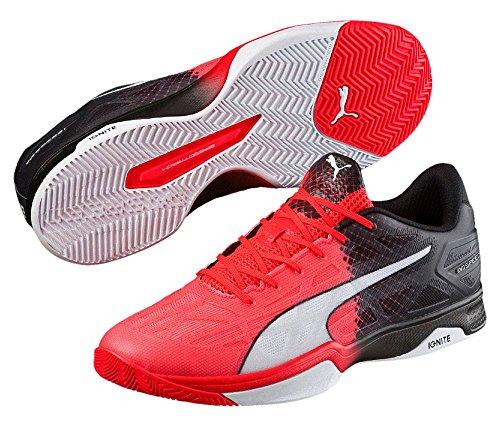 Puma Evospeed Indoor 1.5, Chaussures de Fitness Mixte Adulte Rouge/noir/blanc