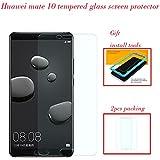 Protector Pantalla Huawei Mate 10 [2 Piezas] [Fácil de Instalar] [Garantía de por Vida], Flos Cristal Templado 9H Dureza [3D Touch Compatible], Anti-Huella para Huawei Mate 10