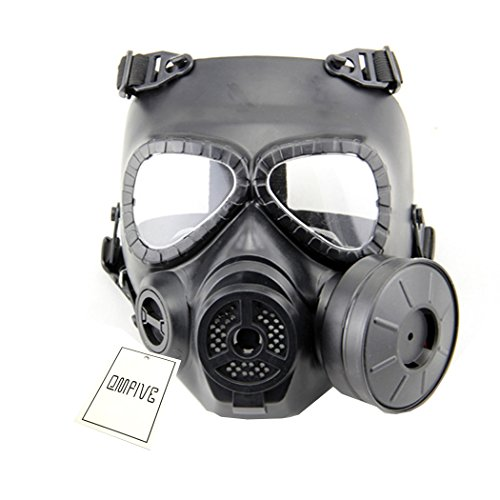 Táctico Máscara QMFIVE Dummy Anti Niebla máscara de Gas M04 con Ventilador Airsoft paintbal protección Gear(Negro)