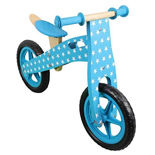 Monsieur Bébé ® Draisienne en bois, vélo sans pédale avec selle réglable - Norme CE - Bleu