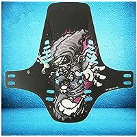 LridSu Protector de Guardabarros Trasero Guardabarros Traseros Guardabarros Guardabarros de plástico para Bicicleta de montaña (Colorido)