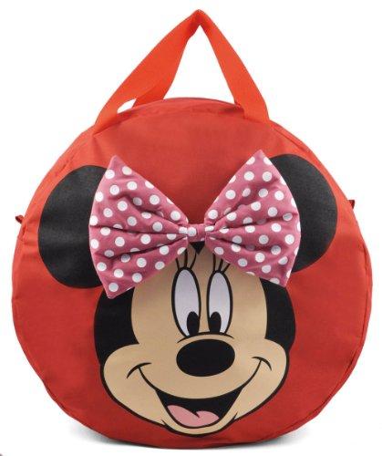 Disney, portagiochi minnie, unisex bambini e ragazzi, rosso