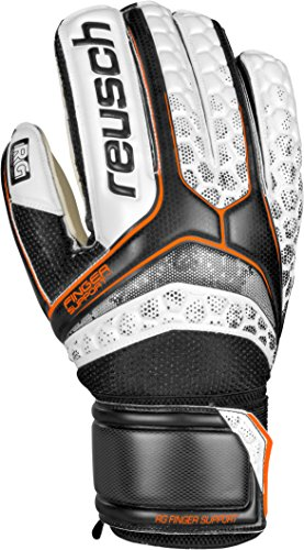 Reusch RE: pulse RG Finger Support - Guanti da portiere, Uomo, Re:pulse RG Finger Support, nero / bianco, 8