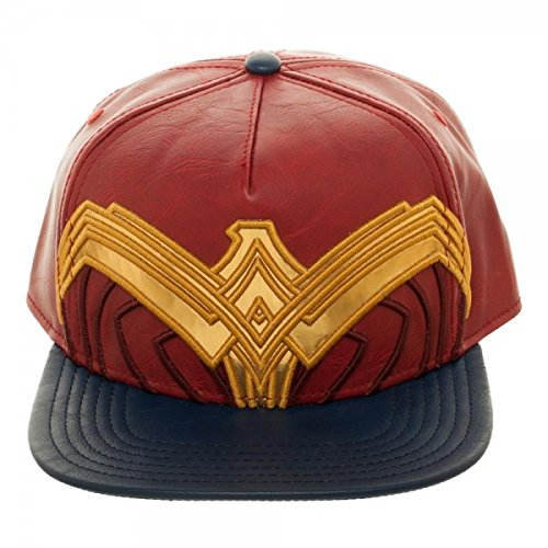 DC Comics Wonder Woman Suit Up Applique Snapback Baseball-Cap