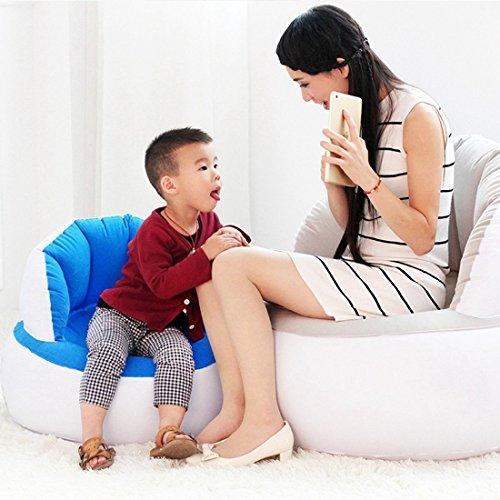 Aufblasbare Liege Couch, tragbar Wasserdicht strapazierfähiges Nylon Outdoor AIR Sofa für Camping, Park, Strand, Backyard (Blau) - 4