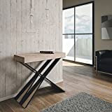 Group Design Diago Table console extensible, moderne, en chêne naturel - Fabriquée...