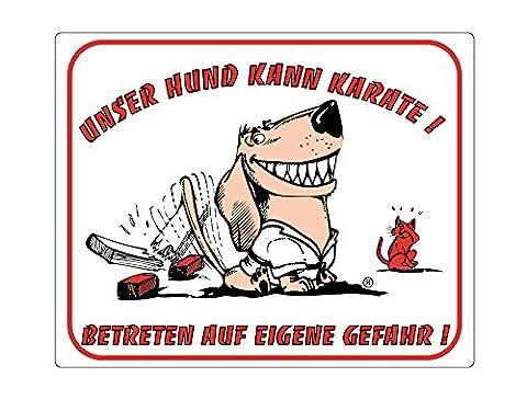 Nobby 93296 Warntafel Unser Hund Kann Karate
