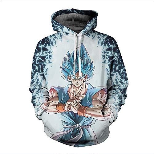 BchYu Unisex Anime Cosplay Männer Hoodie 3D Druck Long Sleeve Sweatshirt Kapuzenpullover Langarm Kapuzenjacke Dragon Ball XL