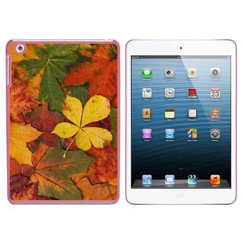 Colorful Autumn Fall Leaves Snap On Hard Schutzhülle für Apple iPad Mini 1. Generation–Pink
