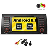 freeauto Android 7.1 Auto Stereo für BMW E39 E53 M5 X5 Auto Radio Audio 17,8 cm Quad Core GPS DVD-Player Multi-Touchscreen Radio CD DVD Player GPS 1080P Video Screen Mirroring OBD2 WiFi hinten Kamera
