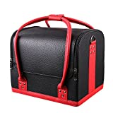 Mvpower Professional Large Removable PU Leather Cosmetic Makeup Vanity Box Jewelry Saloon Case Bag (Multi-Colors) (Polyurethane Leather, 11.8X9.2X9.8) by MVPower