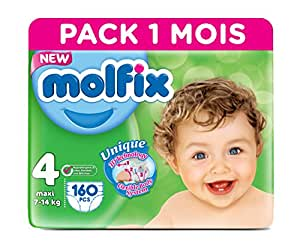 Molfix Twin Pack 160 Couches 7-14 kg 1 Mois Taille 4