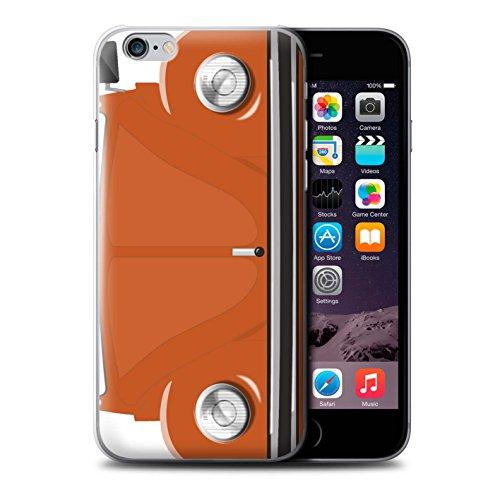 Coque de Stuff4 / Coque pour Apple iPhone 6 / Marina Bleu Design / Rétro Coccinelle Collection Orange Vif
