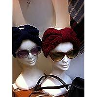 Turbante a fascia di stile Retrò , in pura lana