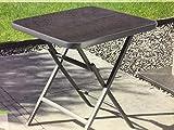 Alu Klapptisch Gartentisch Tisch Sicherheitsglas Camping Garten Balkontisch
