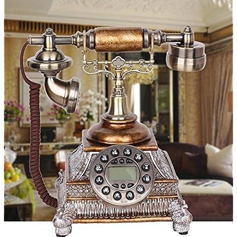 Monete antiche nero telefoni di casa creativa resina tecnologia 25 * 24 * 27 cm di mosaico, ornamenti decorativi di telefono rete fissa retrò vernice antiruggine