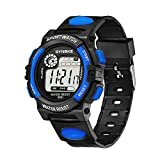NEEKY Sportuhren Herren Fitness,Health und Smartwatch - Multi-Funktions-30M wasserdichte Uhr LED Digital Double Action Watch