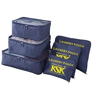 KSK KAISHEK 6pcs Organisateur de bagage de Sac voyage organisateurs de valise et voyage