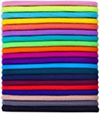 80 Pieces 3 mm Hair Elastics Hair Ties Hair Bands Bulk Ponytail Holders (Multicolored)