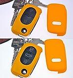 Klapp Schlüssel Hülle Hartschale Cover Gelb für Audi A4 B6 A3 8L A6 C5 A2