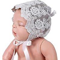 Kobay Cappello Infantile di Fotografia del Cappuccio del Cappello del  Bambino delle Neonate del Pizzo 2f2781ee7805