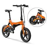 Lixada Vélo électrique Pliant, Pneu de 16 Pouces, Vitesse maximale de 25 km/h, Assistance...