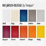 Bezug für Kissen Tempur Ombracio. 10 Farben wählbar - Jersey 100% Baumwolle - waschbar bis 60 / 90°C, Farbe:Schiefer