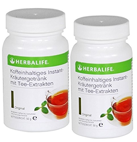 Natürliche Instant-getränke (Herbalife Kräuter-Instant-Getränk mit Tee-Extrakten 2 x 50 g, Geschmack frei wählbar)