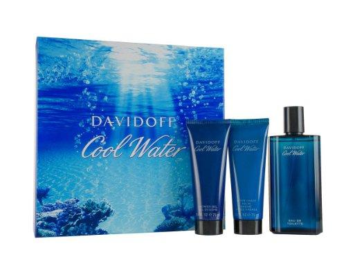 Davidoff Cool Water, Geschenkset, Eau de Toilette 125 ml + Shower Gel 75 ml + Aftershave Balm 75 ml, 1er Pack (1 x 275 ml)