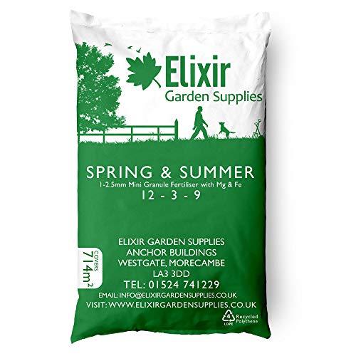 Elixir Gardens ® Lawn Food/Feed Fertiliser Spring & Summer + Moss Control Iron + Magnesium 2.5Kg
