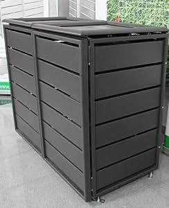 m lltonnenbox f r zwei 120 liter m lltonnen modell. Black Bedroom Furniture Sets. Home Design Ideas