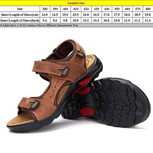 Zhuhaitf Fashion Mens Soft Casual Shoes Athletic & Outdoor Walking Sandals Breathable Shoes brown