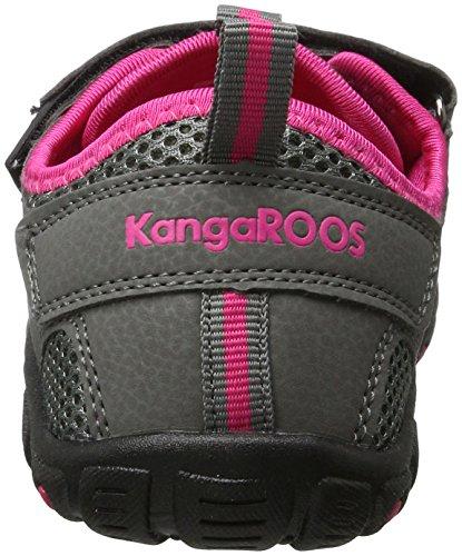 Kangaroos  Kangaspeed X4, Sandales Bout fermé mixte enfant Grau (Dk Grey/Magenta)