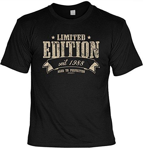 trag-das T-Shirt zum 30. Geburtstag Limited Edition seit 1988 aged to perfection Geschenk zum 30 Geburtstag 30 Jahre Geburtstagsgeschenk 30-jähriger Schwarz