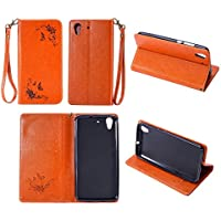 Cozy Hut Huawei Honor 5A /Y6 II Hülle | Handyhülle | Schutzhülle | Handytasche | Tasche | Cover | Case mit Premium Vintage/Retro Genuine Scrub Leather Flip Folio Leather Wallet Stand Cas