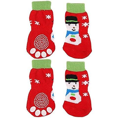 cofco Pet Dog Cat Calze di Natale Natale Pupazzo Di Neve Albero di Natale modelli Pet Calze * 1set S codice