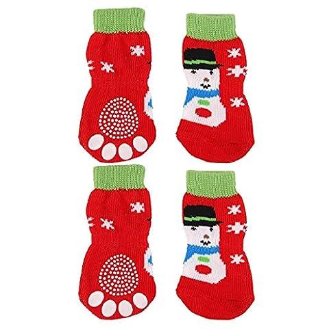 cofco Chaussettes pour chien/chat de Noël Arbre de Noël Bonhomme de neige de Noël modèles Pet Chaussettes * * * * * * * * 1CODE de s