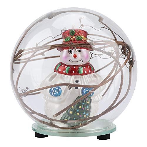 Ftvogue palla di vetro modello pupazzo di neve con 7 tipi di colore lampada a led regalo di compleanno di natale home office decor(02)