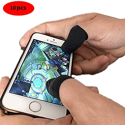 Benrise Gaming-Handschuhe, perfekte bequeme Passform, 10-teiliges Mobile Finger-Sleeve, Touchscreen-Game-Controller, schweißfeste Handschuhe für Handyspiele -