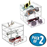 Best MetroDecor Eyeglasses - mDesign 2 pc. Set Stackable Storage Organizer Review