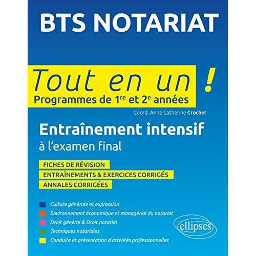 BTS Notariat Tout en un Programmes de 1re et 2e Années