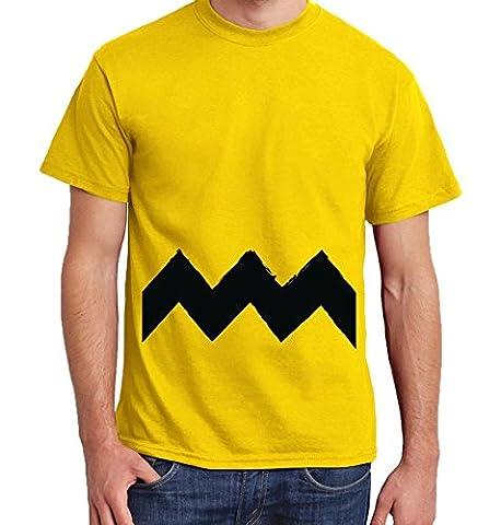 -- C. Brown -- Boys T-Shirt Größe L, Farbe Gelb (Peanuts Schroeder-kostüm)