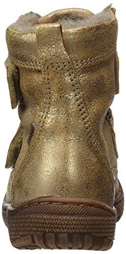 Bisgaard Klettstiefel, Bottes de Neige mixte enfant Gold (6011 Gold)