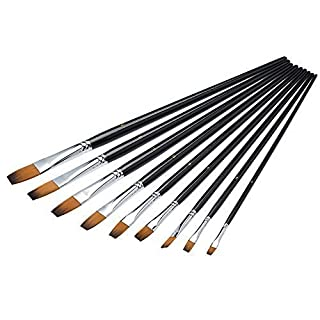 Ace Select Paint Brushes 9 Pieces Art Painting Supplies for Acrylic Watercolor and Oil Painting