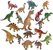 Realist Looking Dinosaur Toys Set of 19 Jurassic Dinosaur Educational Realistic Dinosaur Figures