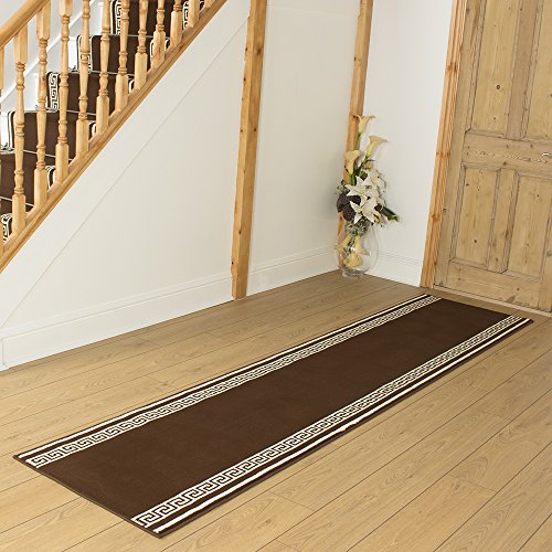 Key Brown - Long Hall & Stair Carpet Runner