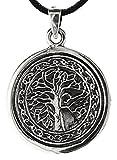 Lebensbaum Anhänger aus 925 Sterling Silber mit Silberkette 41-66 cm