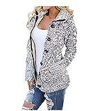 MOIKA Damen Strickjacke Hooded Jacke Sweater Bbeiläufige Gestrickte Cardigans Mäntel mit Tasche Outwear Slim Fit