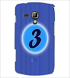 PrintDhaba Numerology Number 3 D-2558 Back Case Cover for SAMSUNG GALAXY S DUOS 2 S7582 (Multi-Coloured)