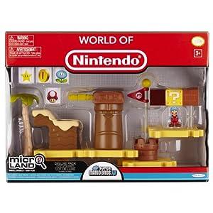 Mario Bros - World of Nintendo Micro Land Playset Deluxe: Layer Cake Desert with Ice Mario Figura (Jakks Pacific… 3